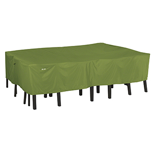 SODO Plus Herb Garden Rectangular Oval Patio Table and Chair Set Cover- Small