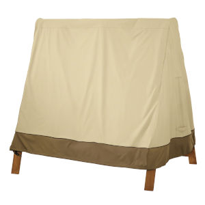 Ash Beige and Brown A-Frame Swing Set Cover