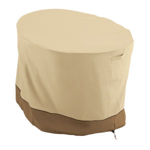 Ash Beige and Brown Papasan Patio Chair Cover