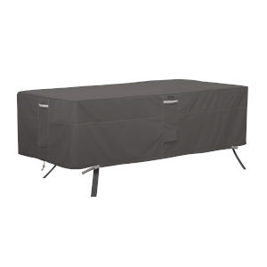 Maple Dark Taupe 84-Inch Rectangle Oval Patio Table Cover