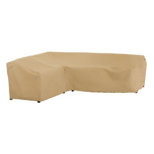 Palm Sand Patio Left Facing Sectional Lounge Set Cover