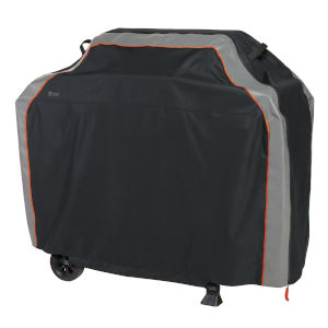 Aspen Black and Grey 70-Inch BBQ Grill Cover