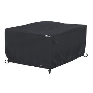 Poplar Black Square Fire Pit Table Cover