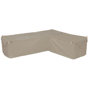 Poplar Goat Tan Patio Right Facing Sectional Lounge Set Cover