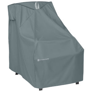 Poplar Monument Grey Patio High Back Chair Cover