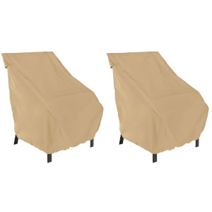 Palm Sand Patio Chair Cover, Set of 2