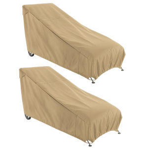 Palm Sand Patio Chaise Lounge Chair Cover, Set of 2