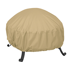 Palm Sand Small Full Coverage Round Fire Pit Cover