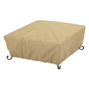 Palm Sand Full Coverage Square Fire Pit Cover