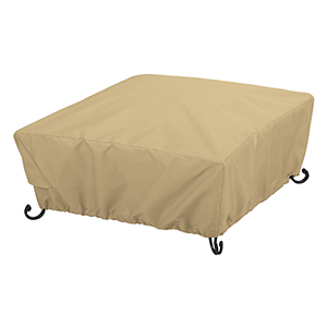 Palm Sand Large Full Coverage Square Fire Pit Cover