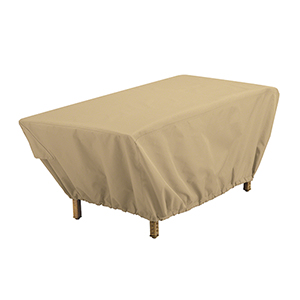 Palm Sand Rectangular Patio Coffee Table Cover