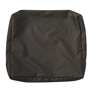 Maple Espresso 23 In. x 20 In. Patio Back Cushion Slip Cover