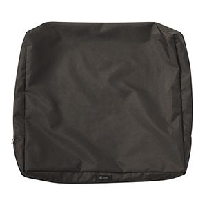 Maple Espresso 25 In. x 20 In. Patio Back Cushion Slip Cover