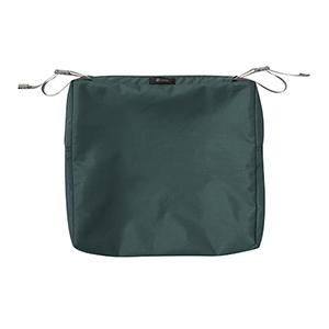 Maple Mallard Green 17 In. x 15 In. Rectangular Patio Seat Cushion Slip Cover
