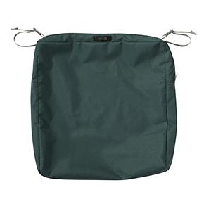 Maple Mallard Green 19 In. x 19 In. Square Patio Seat Cushion Slip Cover