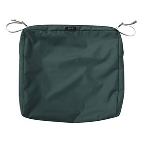 Maple Mallard Green 21 In. x 19 In. x 3 In. Rectangular Patio Seat Cushion Slip Cover