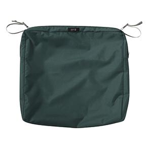 Maple Mallard Green 21 In. x 21 In. Square Patio Seat Cushion Slip Cover