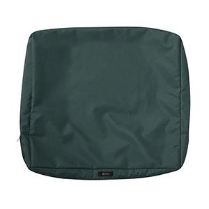 Maple Mallard Green 21 In. x 20 In. Patio Back Cushion Slip Cover