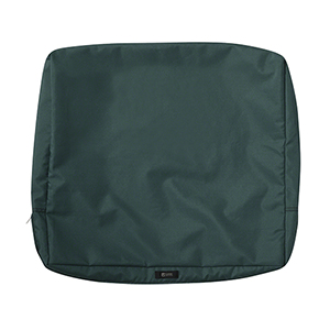 Maple Mallard Green 25 In. x 22 In. Patio Back Cushion Slip Cover