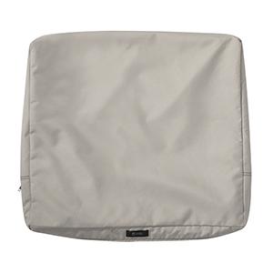 Maple Mushroom 25 In. x 20 In. Patio Back Cushion Slip Cover