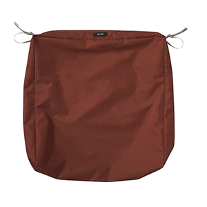 Maple Spice 25 In. x 25 In. Square Patio Seat Cushion Slip Cover