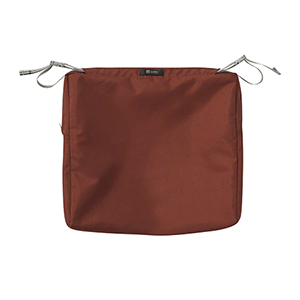 Maple Spice 17 In. x 15 In. Rectangular Patio Seat Cushion Slip Cover