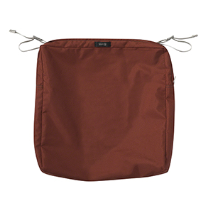 Maple Spice 19 In. x 19 In. Square Patio Seat Cushion Slip Cover
