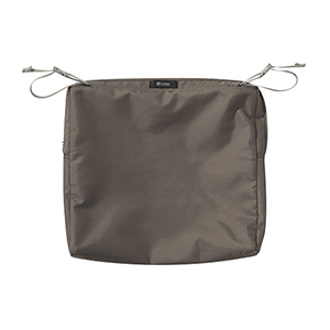 Maple Dark Taupe 17 In. x 15 In. Rectangular Patio Seat Cushion Slip Cover