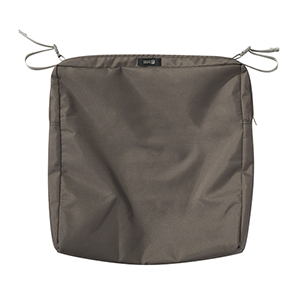 Maple Dark Taupe 19 In. x 19 In. Square Patio Seat Cushion Slip Cover