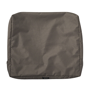 Maple Dark Taupe 21 In. x 20 In. Patio Back Cushion Slip Cover