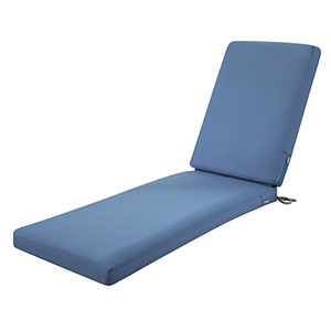 Maple Empire Blue 72 In. x 21 In. Patio Chaise Lounge Cushion