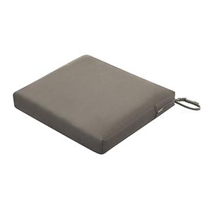 Maple Dark Taupe 21 In. x 19 In. x 3 In. Rectangular Patio Seat Cushion