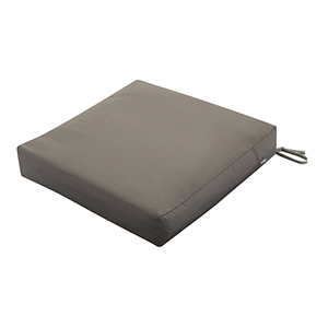 Maple Dark Taupe 25 In. x 25 In. Square Patio Seat Cushion