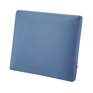 Maple Empire Blue 21 In. x 20 In. Patio Back Cushion