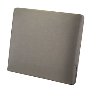 Maple Dark Taupe 21 In. x 20 In. Patio Back Cushion