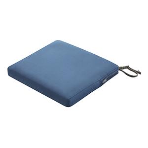 Maple Empire Blue 17 In. x 15 In. Rectangular Patio Seat Cushion