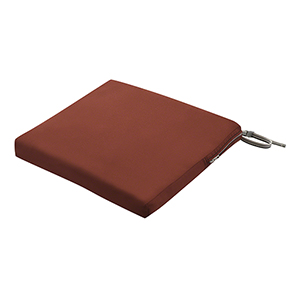 Maple Spice 17 In. x 15 In. Rectangular Patio Seat Cushion