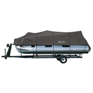 Cypress Charcoal Model B Pontoon Boat Cover