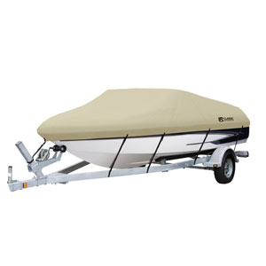Cypress Tan Model E Dry Guard Boat Cover