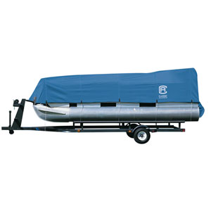 Cypress Blue Model A Pontoon Boat Cover