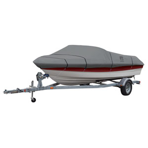 Cypress Grey Model F Lunex RS-1 Boat Cover