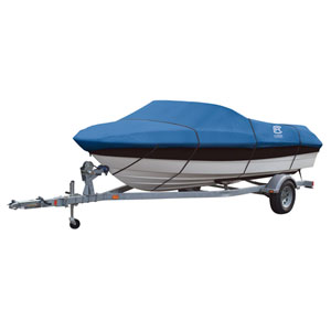 Cypress Blue Model F Boat Cover