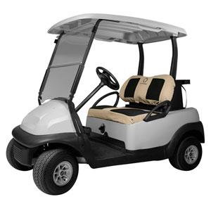 Cypress Khaki Neoprene Paneled Golf Car Seat Cover