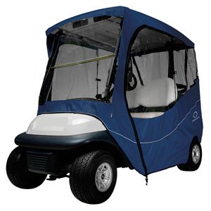 Cypress Navy Short Roof Travel Golf Car Enclosure