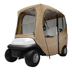 Fairway Deluxe Golf Car Enclosure, Short Roof, Khaki