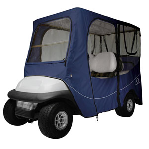 Cypress Navy Long Roof Deluxe Golf Car Enclosure