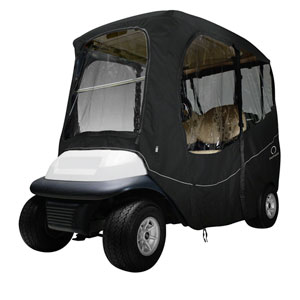 Cypress Black Short Roof Deluxe Golf Car Enclosure
