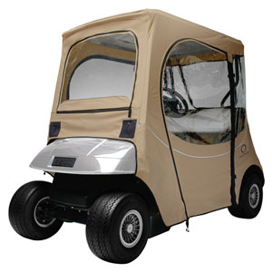 Cypress Khaki Short Roof Fade Safe E-Z-Go Golf Car Enclosure