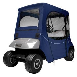 Fairway Fadesafe™ E-Z-Go® Golf Car Enclosure, Short Roof, Navy