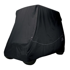 Fairway Golf Car Quick-Fit Cover, Long Roof, Black